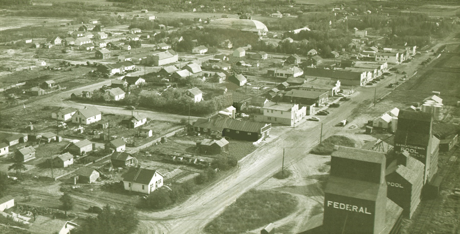 Arial Photo - Town of Choiceland (1950)